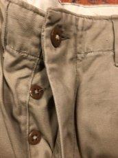 画像4: 40s US.Army  45 Khaki Trousers  W34 L31 (4)