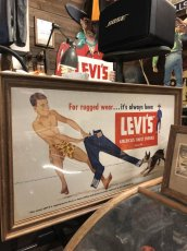 画像1: Early 50s LEVIS  Cardboard Sign (1)
