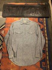 画像1: 50s Lee Half Zip  Work Shirt  Size 14-14 1/2 (1)