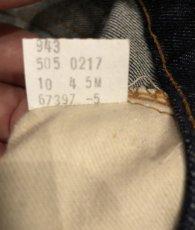 画像7: LEVIS 505  66single  Dead Stock  W34 L33 (7)