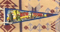 画像1: ビンテージ New York City  Pennant (1)