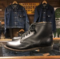 画像2: 40s Work Boot  Dead Stock  ブラック (2)