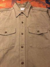画像2: ~50s Hercules コットン・ツイル Work Shirt  Size 15 1/2 (2)