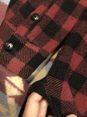画像5: 3~40s Montgomery Ward  Half Zip  Wool Shirt (5)