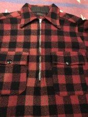 画像2: 3~40s Montgomery Ward  Half Zip  Wool Shirt (2)