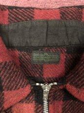 画像3: 3~40s Montgomery Ward  Half Zip  Wool Shirt (3)