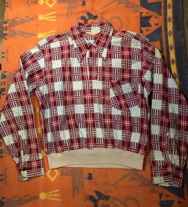 画像1: 50s Pilgrim Pullover Print Flannel (1)