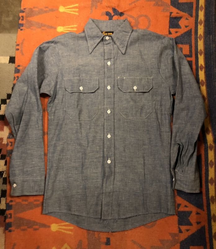 画像1: 70s DEE-CEE  Chambray Shirt  Dead Stock (1)