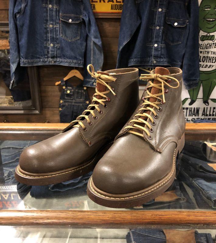画像1: 50s work Boots  Dead Stock  ダークブラウン (1)
