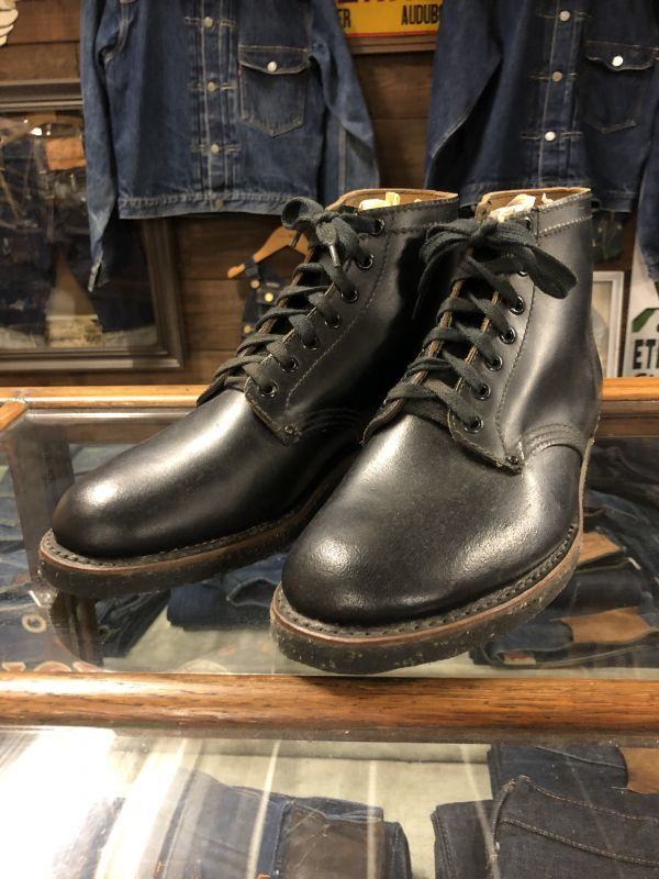 画像1: 40s Work Boot  Dead Stock  ブラック (1)