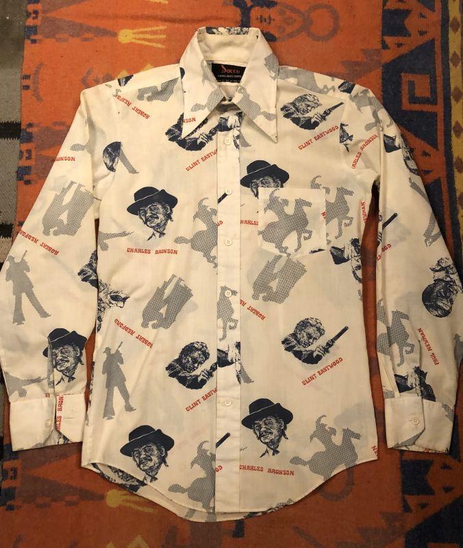 画像1: 70s Hollywood Movie Star  プリントシャツ (1)