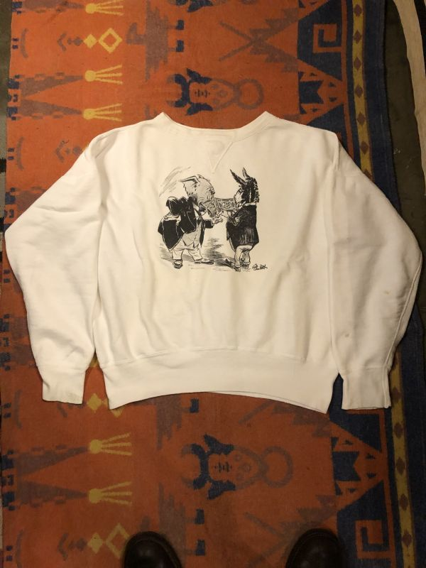 画像1: 50s Front V  Political Satire Sweat   (1)