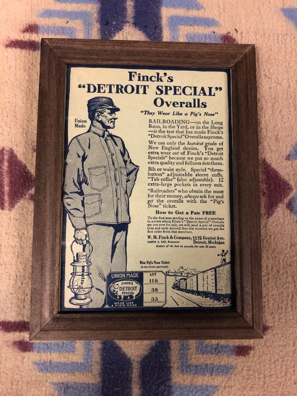 画像1: 1910s  Finck's Detroit Special  Advertising (1)