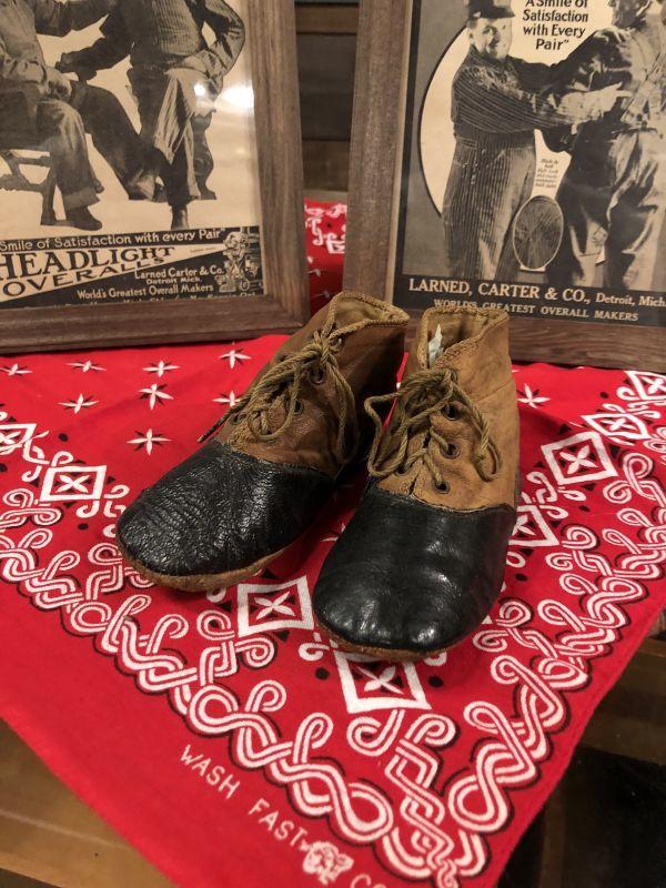 画像1: 1900~10s  Baby First Boots (1)